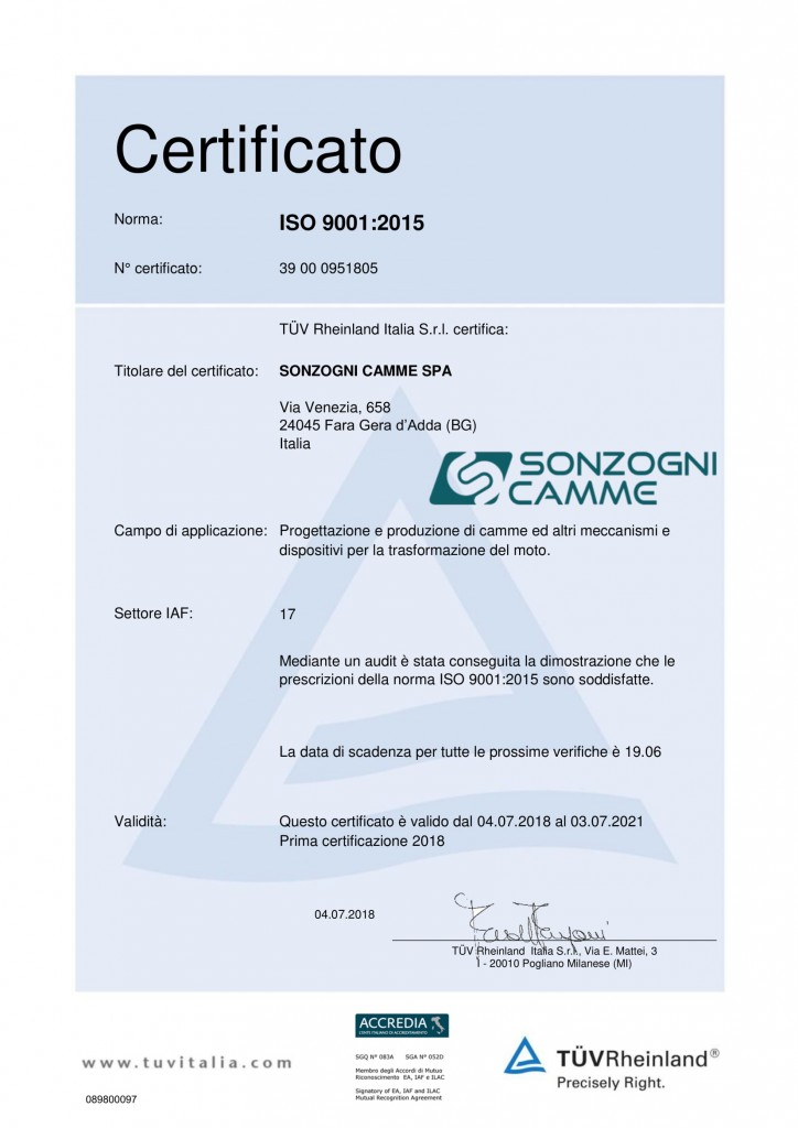 089800097 Certificato ISO 9001-2015 - IT-1